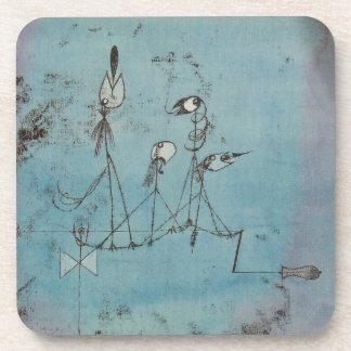 Paul Klee Twittering Machine Coasters