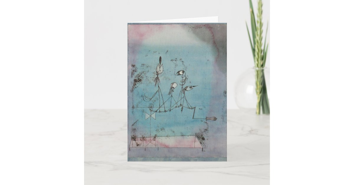 Twittering Machine >> Paul Klee Twittering Machine Greeting Card Zazzle Com