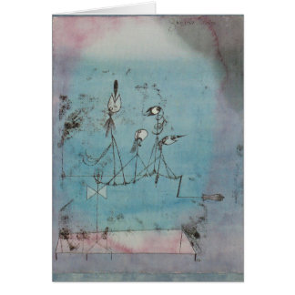 Paul Klee Twittering Machine Greeting Card