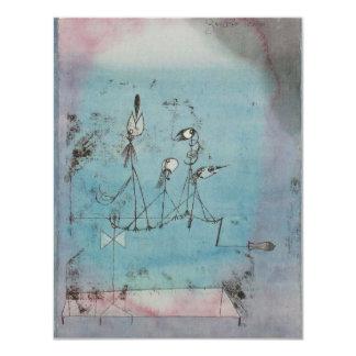 Paul Klee Twittering Machine Invitations