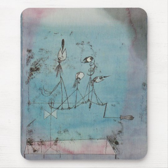 Paul Klee Twittering Machine Mouse Pad