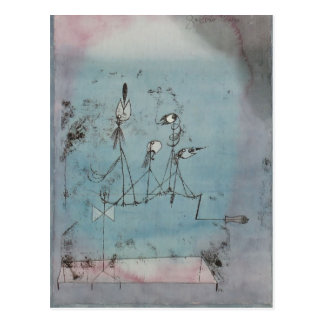 Paul Klee- Twittering Machine Postcard