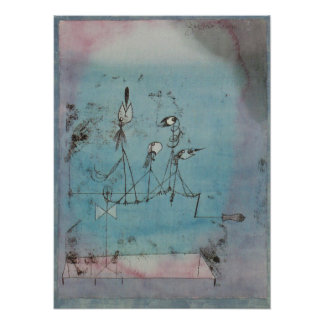 Paul Klee Twittering Machine Poster