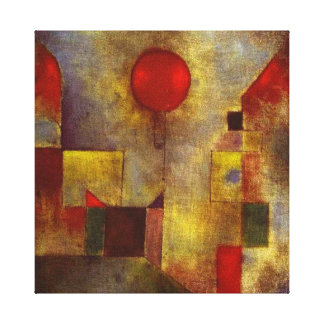 Paul Klee's 'The Red Balloon' On Cloth Canvas Print