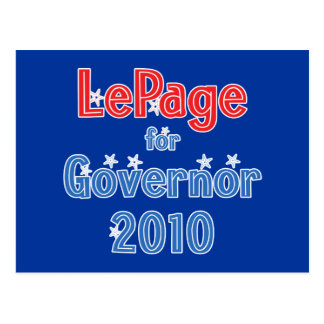 Paul LePage for Governor 2010 Star Design Postcard