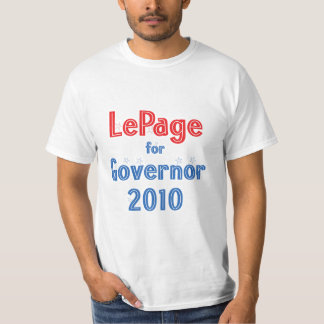 Paul LePage for Governor 2010 Star Design Tee Shirt