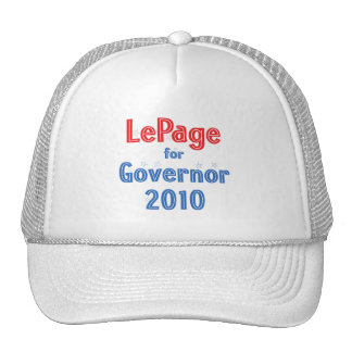 Paul LePage para el diseño de la estrella del gobe Gorras