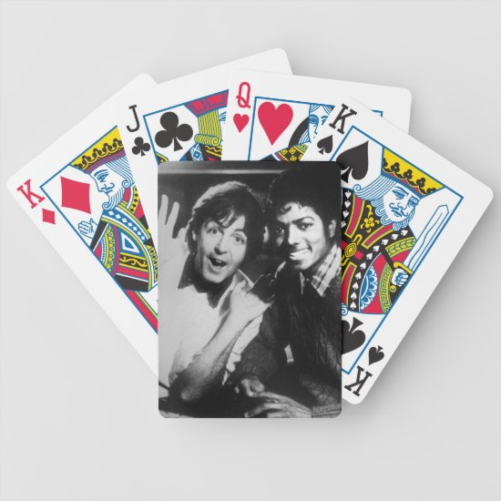Paul McCartney & Michael Jackson Bicycle Playing Cards