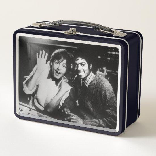 Paul McCartney & Michael Jackson Metal Lunch Box