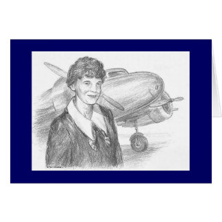 "Paul McGehee ""Amelia Earhart"" Card"