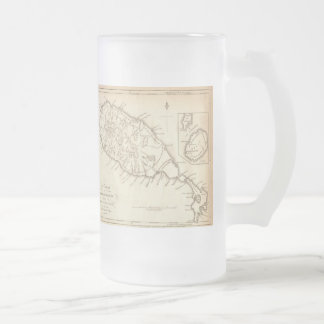 "Paul McGehee ""Antique St.Kitts/Nevis Map"" Beer Mug"