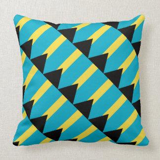 """Paul McGehee """"Bahamas Flag"""" Pillow"""