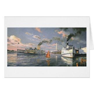 "Paul McGehee ""barcos de vapor tarjeta del Potomac"""