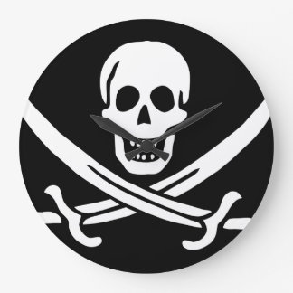 "Paul McGehee ""Calico Jack's Pirate Flag"" Clock"