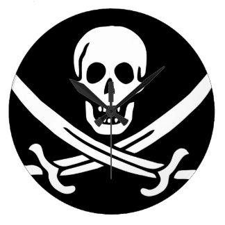 "Paul McGehee ""Calico Jack's Pirate Flag"" Clock"