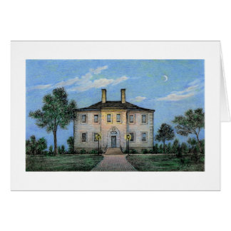 Paul McGehee Carlyle House by Moonlight Card