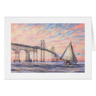 "Paul McGehee ""Chesapeake Bay Bridge"" Card"