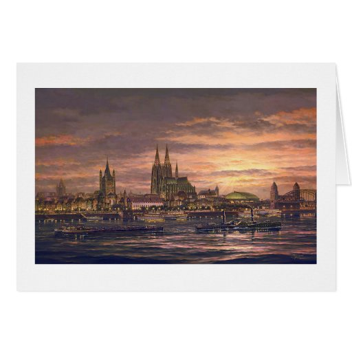 "Paul McGehee ""Cologne on the Rhine"" Card"