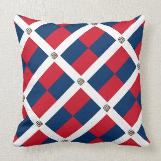 "Paul McGehee ""Dominican Republic Flag"" Pillow"