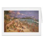 """Paul McGehee """"en la playa en tarjeta de Waikiki"""""""