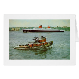 "Paul McGehee ""Hudson River Departure"" Card"