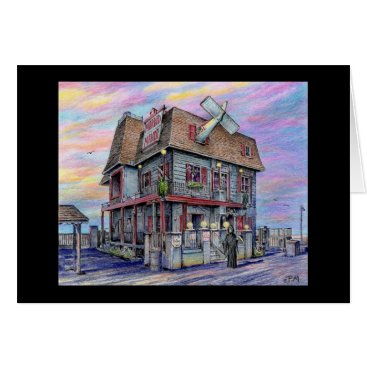 "Beach Themed Paul McGehee ""Morbid Manor"" Halloween Card"