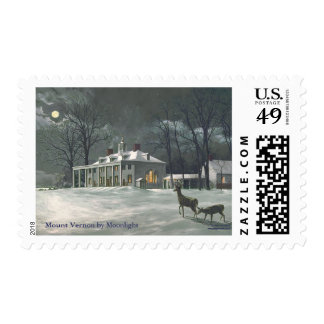Paul McGehee Mount Vernon by Moonlight Stamps