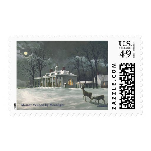 """Paul McGehee """"Mount Vernon by Moonlight"""" Stamps"""
