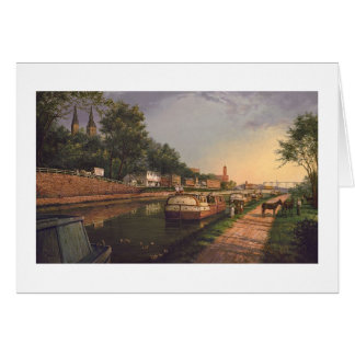 """Paul McGehee """"Old C & O Canal at Georgetown"""" Card"""