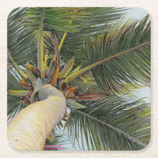"Paul McGehee ""Palm Tree"" Drink Coasters Square Paper Coaster"