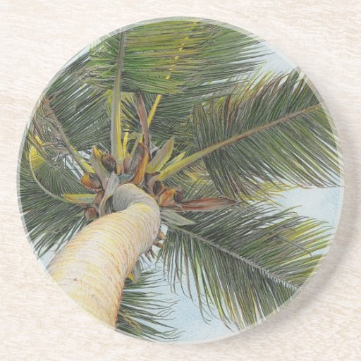 Paul mcgehee palm tree sandstone drink coasters zazzle - Sandstone drink coasters ...