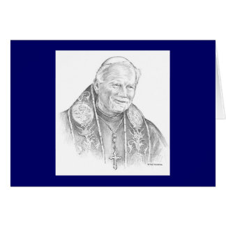 "Paul McGehee ""Pope John Paul II"" Card"
