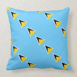 "Paul McGehee ""Saint Lucia Flag"" Pillow"