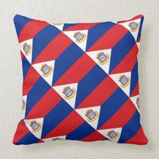 """Paul McGehee """"Sint Maarten Flag"""" Pillow"""