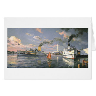 """Paul McGehee """"Steamboats of the Potomac"""" Card"""