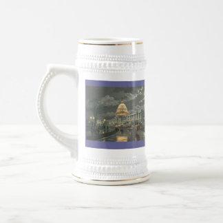 """Paul McGehee """"The Capitol by Moonlight"""" Beer Stein 18 Oz Beer Stein"""