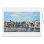 """Paul McGehee """"The Georgetown Waterfront"""" Card"""
