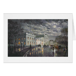 "Paul McGehee ""The White House by Moonlight"" Card"