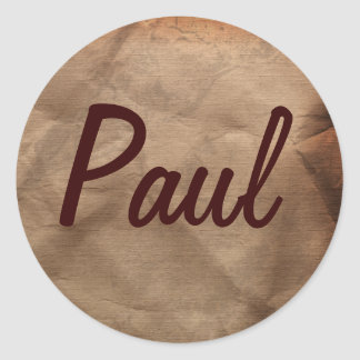 PAUL Name Stickers Collection