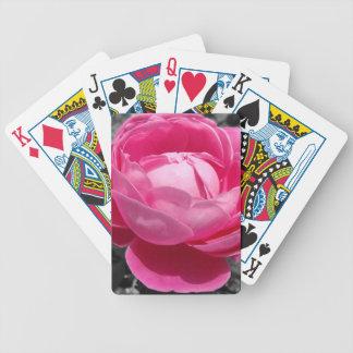 Paul Neyron Pink Heritage Rose Bicycle Playing Cards