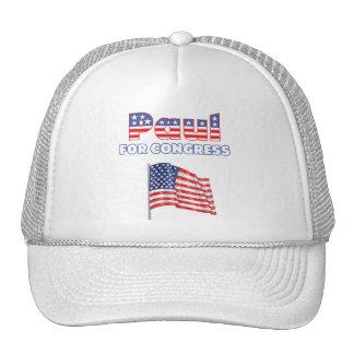 Paul para la bandera americana patriótica del cong gorra