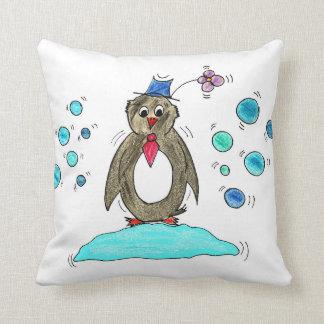 Paul Pinguin Throw Pillow
