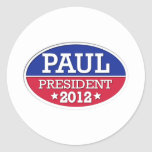 Paul President 2012 Classic Round Sticker