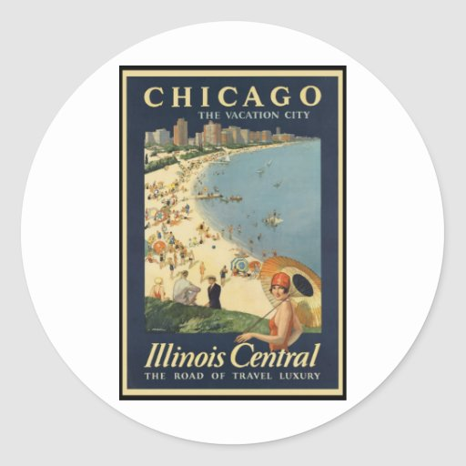 Paul Proehl Chicago Vacation City Classic Round Sticker