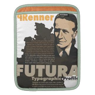 Paul Renner Futura Font Typographic Profile iPad Sleeves