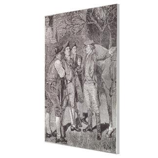 Paul Revere at Lexington Gallery Wrap Canvas