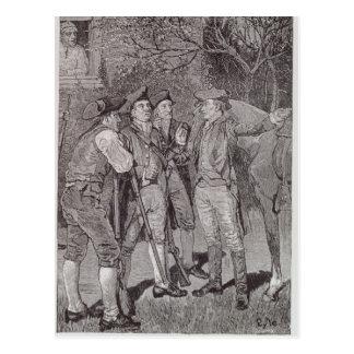 Paul Revere at Lexington Postcard