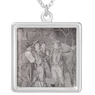 Paul Revere at Lexington Silver Plated Necklace