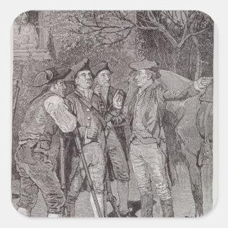 Paul Revere at Lexington Square Sticker