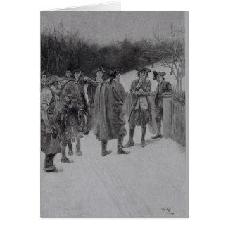 Paul Revere Bringing News to Sullivan Card